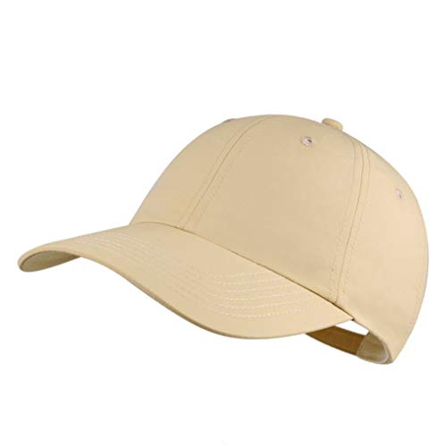Quivk Dry Dad hat Summer Polo Baseball Cap Mens Outdoor Running Run Sports Sport Hats Cool UV Sun Caps Light Breathable Travel Golf Unstructured Trucker Hat for Men Women Girls Unisex Plain Gift Khaki