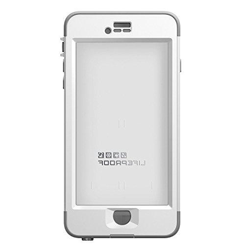 "LifeProof iPhone 6 Plus Case - nüüd - for Apple iPhone 6 Plus Smartphone - White, Gray - Water Proof, Drop Proof, Snow Proof, Shock Proof, Dirt Proof, Dust Proof - 79.20"" Drop Height - 79.20"""