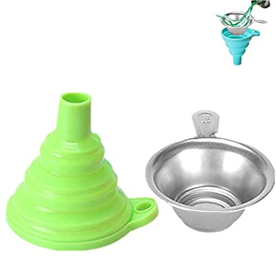 3D Printer Resin Filter, 3D Printer Accessories Photosensitive Resin Filter Funnel Light Curing Consumable Filter,Resin Filter Cup+Silicone Funnel for Creality/Anycubic/ELEGOO etc 3D Printer (Green)