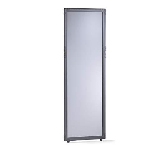 Cloison - verre acrylique fumé - h x l 1950 x 650 mm, cadre gris ardoise - Dispositif de délimitation Paroi de séparation Parois de séparation Séparation Cloison Cloison de séparation Cloison industrielle Cloison insonorisante Cloisons Cloisons de