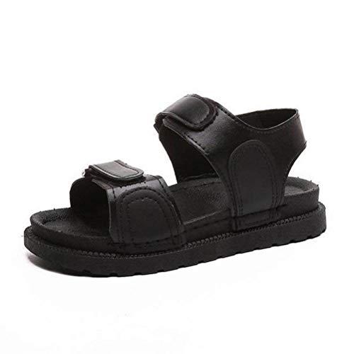 Women Sandals Été Ouvert Sandales Femme Été Chaussures à Semelle Épaisse Chaussures Sauvages Occasionnels Simples Chaussures Marée, Black, 37