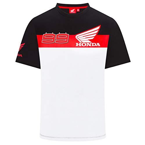 Honda HRC 2019 Jorge Lorenzo #99 - Camiseta oficial de MotoGP para hombre, negro, Mens (XXL) 120cm/47 inch Chest