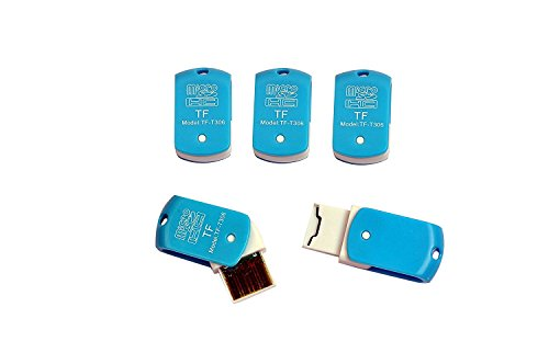 Teflon USB Single Card Reader for TF, M2, Micro SD, T-Flash Memory...