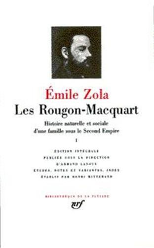 Zola Les Rougon-Macquart Pléiade complet