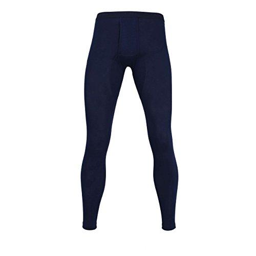 Ceceba Herren Lange Unterhose, Polyester, Baumwolle, Dunova, Navy, Uni, mit Bündchen, offener Eingriff M