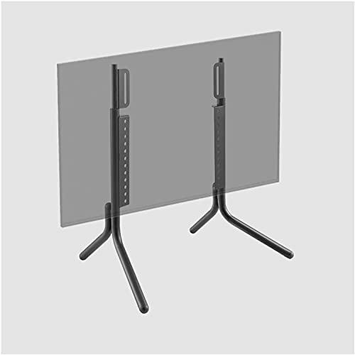 Soporte de mesa para TV LCD, soporte de metal, altura ajustable, soporte de escritorio, con gestión de cables (color negro)