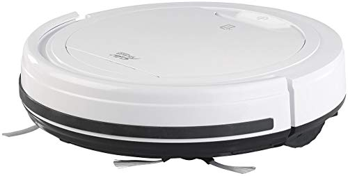 Sichler Haushaltsgeräte Akku-Bodenstaubsauger: Staubsauger-Roboter mit Bürst- und Wisch-Funktion, Filter, 850 mAh (2in1 Staubsaug Bodenwisch Roboter)