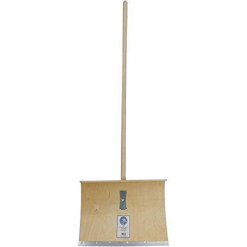 SHW-FIRE 59021 Schneeschaufel Schneeschieber Holz Sperrholz 50 cm breit Professional mit Stahlschutzkante Stiel 130 cm lang