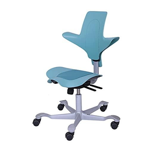 zdz Silla de Oficina de Respaldo con Soporte de polea, Silla de Escritorio Ajustable ergonómica con reposabrazos, para niños, Dormitorio, hogar, Oficina (Color : Blue)