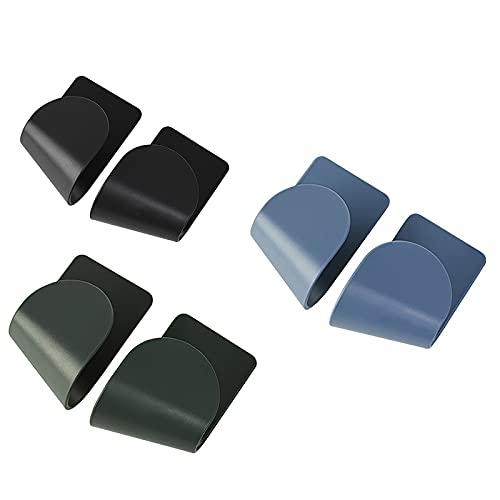 Soporte de cuchara para utensilios de cocina y herramientas de cocina, soporte de almacenamiento múltiple para utensilios con almohadilla de goteo, color azul
