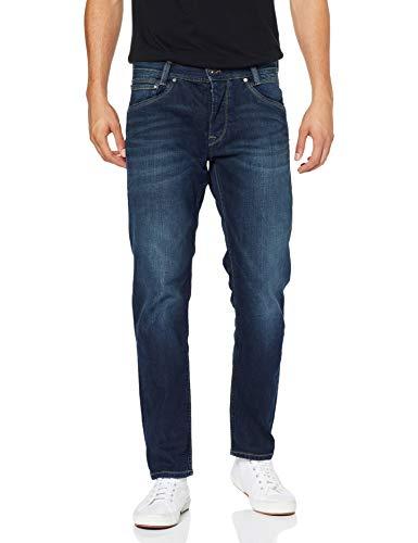 Pepe Jeans Saturn Jeans Homme Bleu 000 Streaky Stretch Dk Z45 36W / 34L
