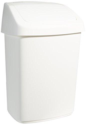 Rubbermaid Commercial Products R000877 Contenitore a Coperchio Basculante, 25 L, Bianco