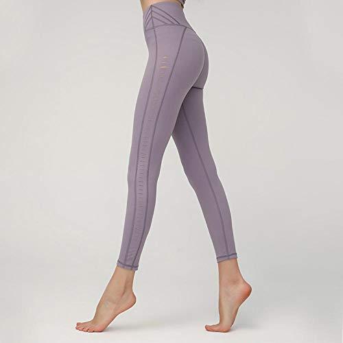 Dames sport panty's Panty Side Yoga Naakt Dubbelzijdig Holle Broek Dames Broek Skinny Geborsteld Broek Vrouwen Taille Raise Donker Groen M