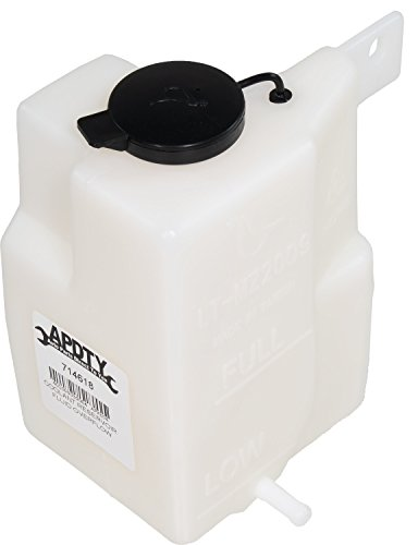 APDTY 714618 Coolant Reservoir Fluid Overflow Plastic Bottle Housing w/Cap Fits 1995-2003 Mazda Protege (Replaces B6BF15350B)