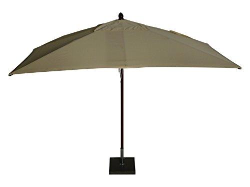 Maffei Art 152R Timbers Parasol rectangulaire en Bois cm. 300X200. Fabriqué en Italie. Couleur Ecru