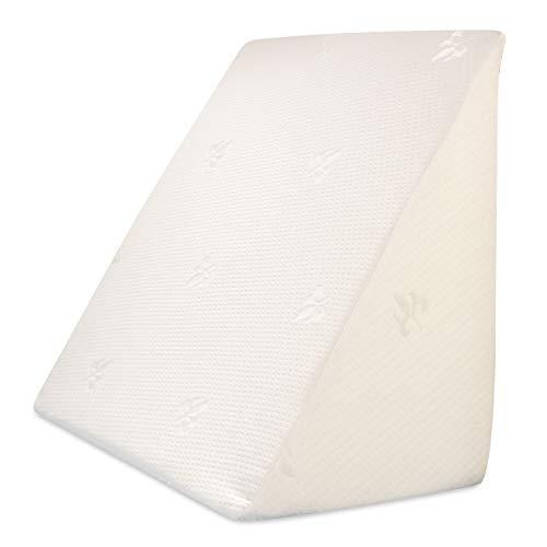 Bettkeil orthopädisch | Rückenstütze für Bett/Sofa/Couch | Matratzenkeil zur Hochlagerung/Entlastung | Bezug waschbar | ergonomisches Lagerungskissen | Keilkissen, Refluxkissen (30 × 50 × 60 cm)