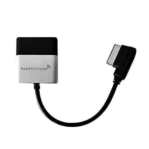 Need4Stream, N4S300A Bluetooth Audio Interface mit Titellisten, kompatibel mit Audi MMI 3G, Audi Music Interface AMI und VW Media-In MDI, Adapter geeignet für iPhone und Android