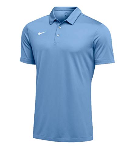 Nike Mens Dri-FIT Short Sleeve Polo Shirt (Large, Sky Blue)