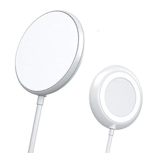 YUNZHI Cargador Inalámbrico, Almohadilla de Carga Inalámbrica de 15 W Compatible con iPhone 12 Pro / 12/11 Pro / 11 / XS/XS MAX/X/Ventosa de Carga Inalámbrica Antimagnética