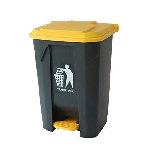 HFFFHA Cubo de Basura de plástico al Aire Libre 50L Papelera de Reciclaje Papelera for el Dormitorio, contenedor de residuos del baño, Cocina, jardín (Color : B, Size : 80l)