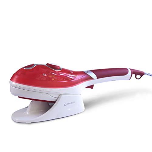 Centro Planchado Máquina de Planchar de Mano Plancha de Vapor Ropa para el hogar Vaporizador Viajes portátil Jet Steam Generator 800W, 295mm (Color : Red)
