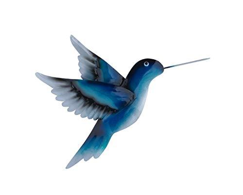 KLP Wanddeko Vogel Kolibri Ziervogel Metall Deko Hänger Figur Skulptur Wandbild Eule