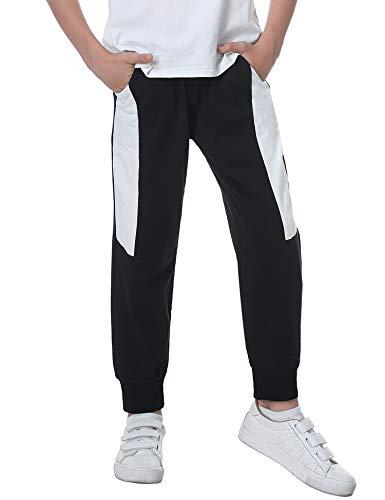 Sykooria Pantaloni Ragazzo Tuta Sportiva Casuale Bambino Pantaloni da Jogging Scuola all'aperto da 4 ai 12 Anni