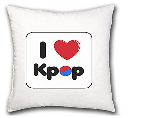 MERCHANDMANIA COJIN I Love KPOP Korea Music hogar Comodo cussion