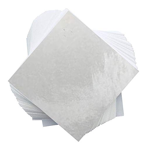 """Premium Super Slick Parchment Paper Squares   100 Sheets   10"""" x 10""""   100% Food-Grade Silicone   1-Sided Coating   2X Thicker   Reusable   2 Different Sizes Available"""