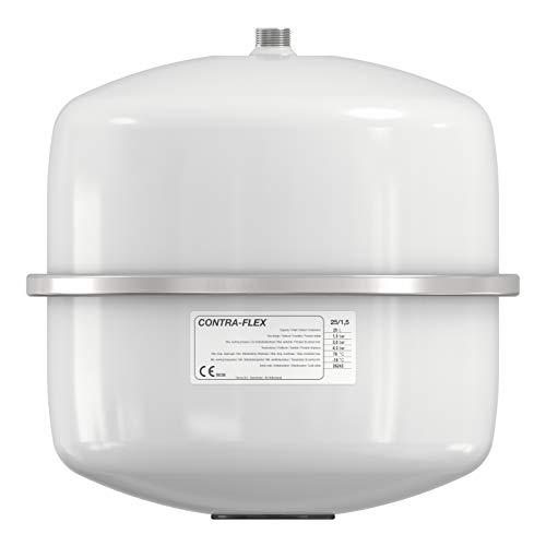 Flamco Contraflex 12 Liter / 1,5 [3 bar] Expansionsgefäß weiß, Festmembran-Expansionsgefäß für geschlossene Kreislauf- und Heizungsklimaanlagen und Kälteanlagen 26153