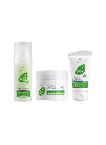 Aloe Vera Men-Set (Shaving Gel 150ml, After Shave Balsam 100ml, Anti-Stress-Cream 100ml) by LR by L R