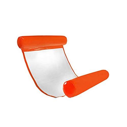 Licht Schwimmbad schwimmende Bett faltbare Rückenlehne schwimmende Entwässerung auf aufblasbaren Hängematte Wasserlounge-Stuhl Wasser Floating-Stuhl Multicolor Optionale Luftbetten & Schlauchboote