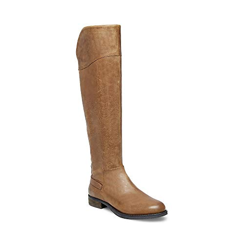 Steve Madden Womens Marianne Leather Almond Toe Knee, Cognac Leather, Size 5.5