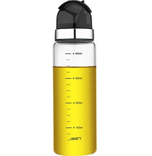 Dispensador de aceite, botella de vidrio de dispensador de aceite de oliva, vinagreras dispensadoras de vinagre, 400 ml negro