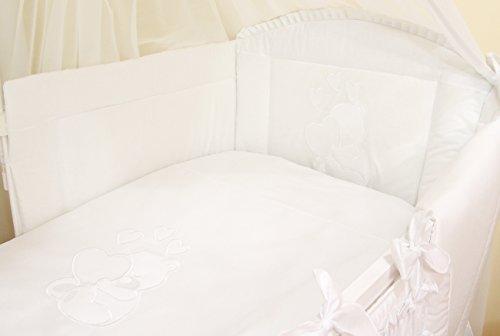 Literie de bébé ensemble set complet 3 pièces Housse de couette Taie d'oreiller Tour de lit 100%...
