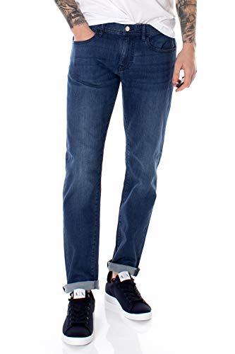 ARMANI EXCHANGE Cotton Stretch Blue Indigo, Slim Jeans, Blu (Denim Indaco 1500), W29/L32 (Taglia Produttore: 29) Uomo