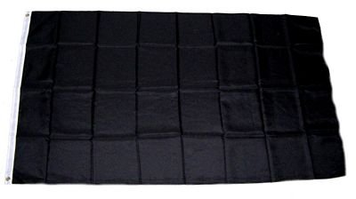MM 16293 Trauer Fahne/Flagge, wetterfest, schwarz, 150 x 90 x 1 cm