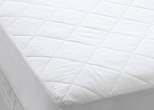 Comfy Nights Extra Deep 40cm/16 200 Thread Count Egyptian Cotton Quilted Mattress Protector Or Pillow Protector (King)