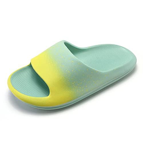 Cacagie Chanclas de baño de verano, antideslizantes, ligeras, para la playa, unisex, verde, 43 EU