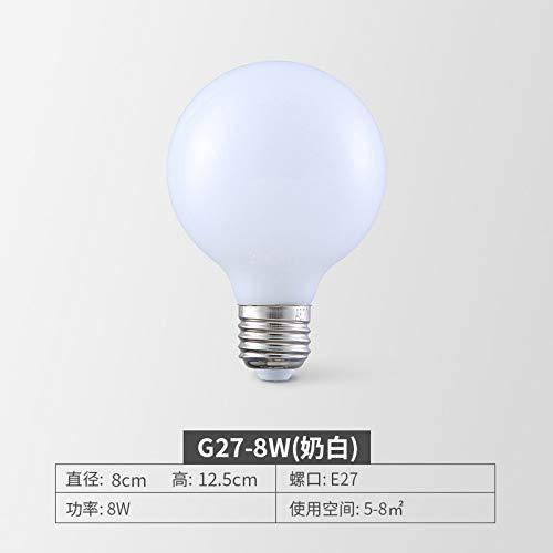 Bombilla decorativa de filamento, bombilla Edison E27E14 Tornillo Lámpara de ahorro de energía Retro 5W Super brillante Led Filamento Fuente de luz creativa 5pcs, G27