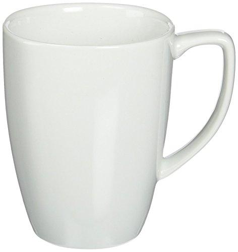 Corelle Square 12-Ounce Mug, Pure White (Set of 4), 12 ounce