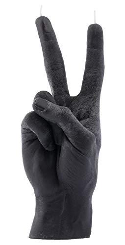 CandleHand Hand Geste Kerze Peace Sign - Große echte Hand Größe 20 x 7 x 7 cm - Handgemachte Gewinner Statue - Geburtstag, Büro, Einweihungsparty Geschenk