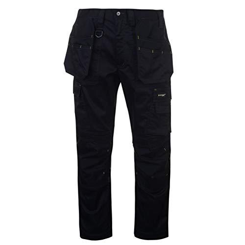 DUNLOP Herren Stretch Hose mit Taschen Arbeitshose Schwarz Medium