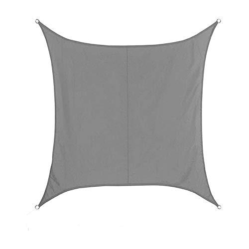 LLCY Toldo rectangular impermeable para exteriores, terraza, jardín, césped, decoración para piscina, toldo (color: gris, tamaño: 4 x 6 m)