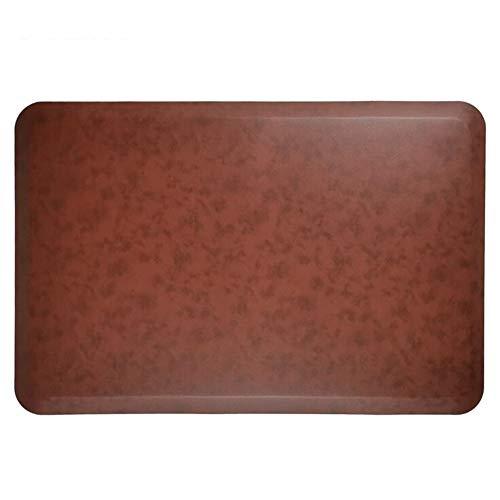 WJQQ Anti Ermüdungsmatte, Ergonomische Arbeitsplatzmatte für Gesundes und Schmerzfreies Stehen, rutschfeste und Langlebig Stehmatte aus Umweltfreundlichem PULight brown-100 * 50 * 2cm