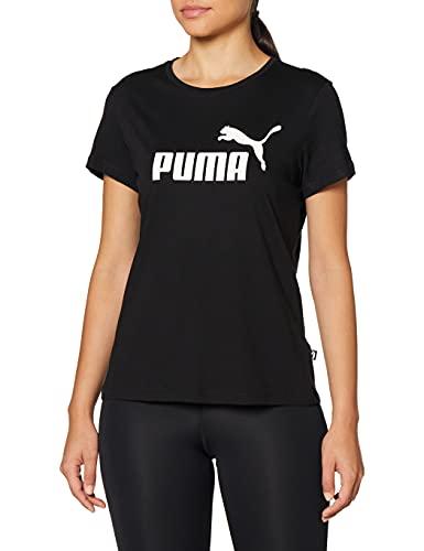 PUMA ESS Logo tee Camiseta, Mujer, White, M