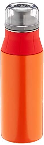 alfi Trinkflasche Edelstahl 600ml - elementBottle Real Pure orange - auslaufsicher, spülmaschinenfest, BPA-Free, 5357.137.060