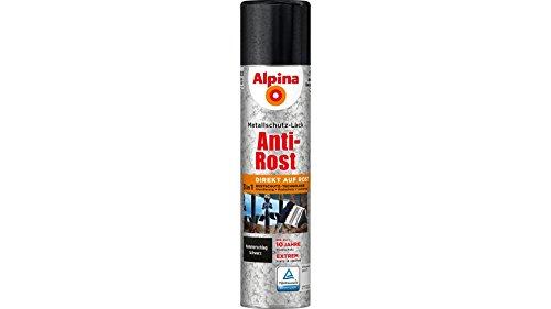 Alpina 400 ml Metallschutz-Lack Spray Anti-Rost SCHWARZ Hammerschlag