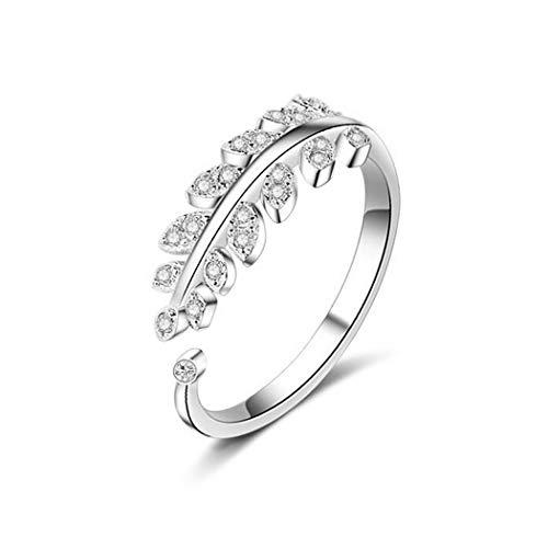 Aukmla Ring mit Blättern, Silber,...