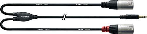 Cordial CFY 3 WMM - Cable XLR a mini jack (3.5 mm), negro